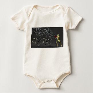 Body Para Bebê Conceito do marketing com homem de negócios