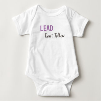 Body Para Bebê CONDUZA, não siga o t-shirt por muito tempo