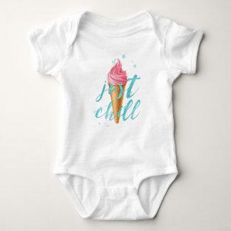 """Body Para Bebê """"Cone do sorvete da aguarela apenas do frio"""""""