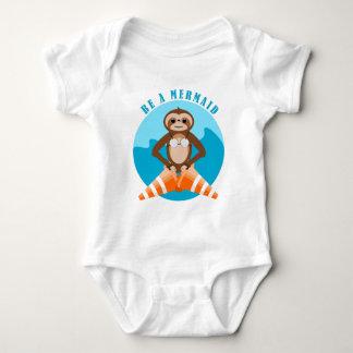 Body Para Bebê Cone do tráfego da sereia da preguiça