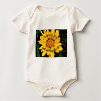 Body Para Bebê Confiança no senhor Brilhante Amarelo Flor