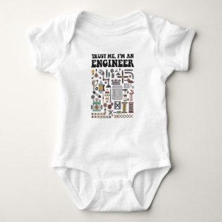 Body Para Bebê Confie-me, mim são um engenheiro