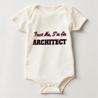 Body Para Bebê Confie que eu mim é um arquiteto