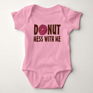 Body Para Bebê Confusão da rosquinha comigo filhós cor-de-rosa do
