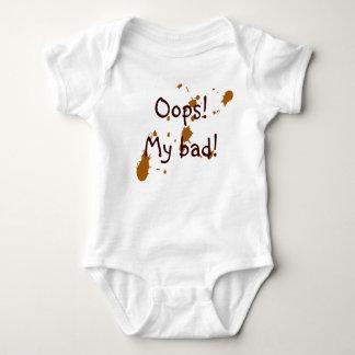 """Body Para Bebê Confusão do bebê """"MEU MAU! """""""