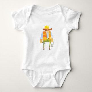 Body Para Bebê Construtor com Trowel e balde na construção