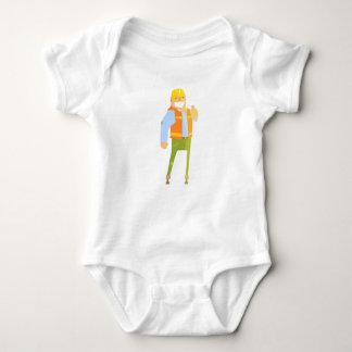 Body Para Bebê Construtor de sorriso que mostra os polegares
