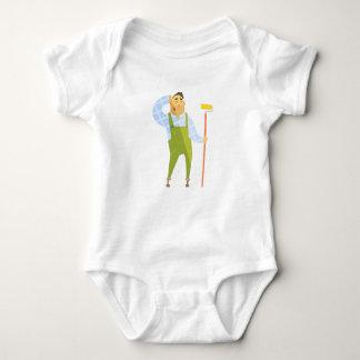 Body Para Bebê Construtor que risca a cabeça no canteiro de obras