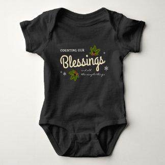 Body Para Bebê Contando nosso Natal das bênçãos |