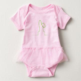 Body Para Bebê Contorno de uma luz da lebre - verde