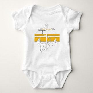 Body Para Bebê contra-almirante do ouro, fernandes tony