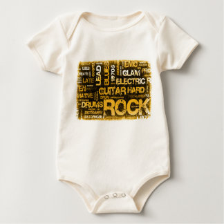 Body Para Bebê Convite de festas da música rock como a arte do