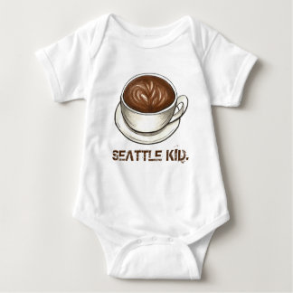 Body Para Bebê Copo de café Latte do MIÚDO de Washington SEATTLE