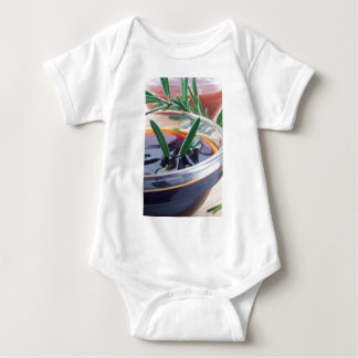 Body Para Bebê Copo de vidro com molho e rosemary de soja