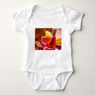 Body Para Bebê Copo transparente do chá com citrino e canela
