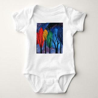 Body Para Bebê Cor da noite - do arco-íris céu estrelado das
