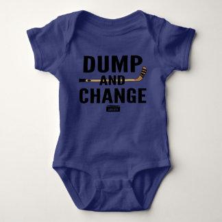 Body Para Bebê Cor do Bodysuit do bebê do hóquei da descarga e da