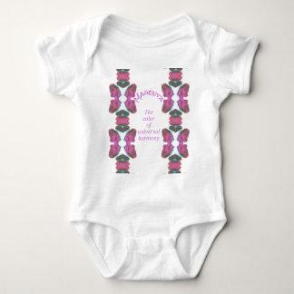 Body Para Bebê 'Cor magenta chique da harmonia universal