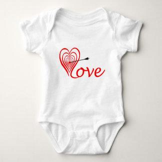 Body Para Bebê Coração amor alvo com seta