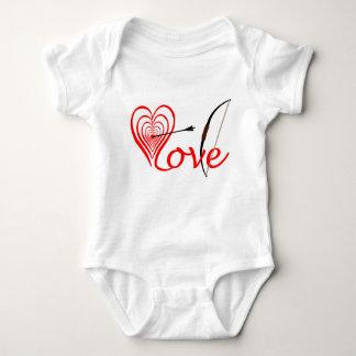 Body Para Bebê Coração amor alvo com seta e arco