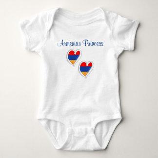 Body Para Bebê Coração arménio da princesa | do terno | do corpo