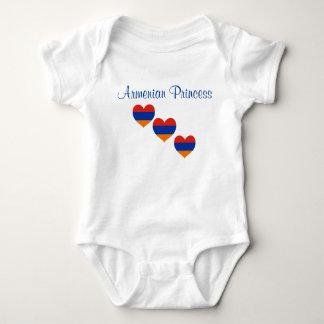 Body Para Bebê Coração arménio da princesa   do terno   do corpo