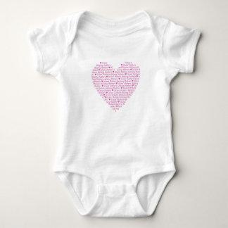 Body Para Bebê Coração BabyWEAR de IMHM