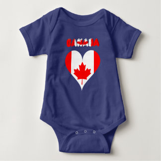 Body Para Bebê Coração canadense