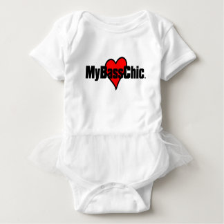 Body Para Bebê Coração carmesim de MyBassChic (TM)