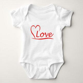 Body Para Bebê Coração com amor