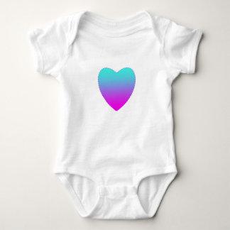 Body Para Bebê Coração cor-de-rosa/azul