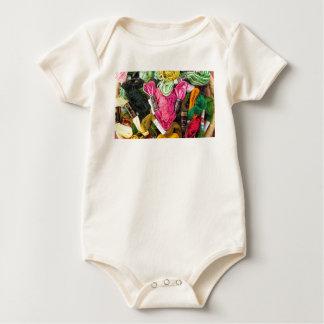 Body Para Bebê Coração cor-de-rosa brilhante colorido bonito do