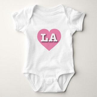 Body Para Bebê Coração cor-de-rosa de Louisiana ou de Los Angeles