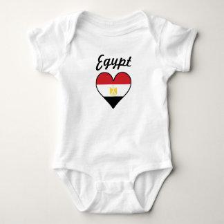 Body Para Bebê Coração da bandeira de Egipto