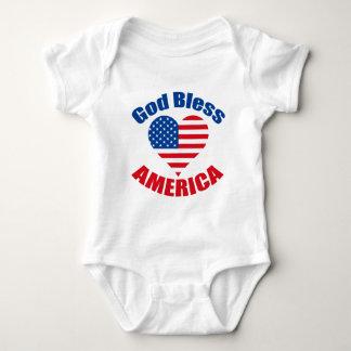 Body Para Bebê Coração de América dos deus abençoe