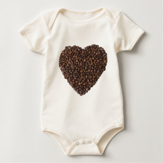 Body Para Bebê Coração de Kaffeebohnen