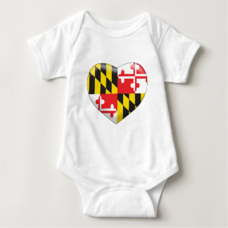 Body Para Bebê Coração de Maryland