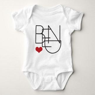 Body Para Bebê Coração de Oregon da curvatura