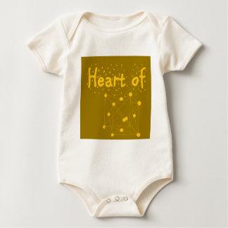 Body Para Bebê coração de ouro