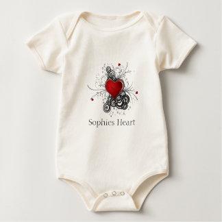 Body Para Bebê Coração de Sophies