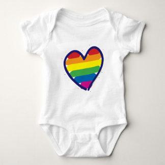Body Para Bebê Coração do amor do orgulho gay