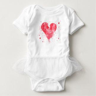 Body Para Bebê Coração do beijo da aguarela