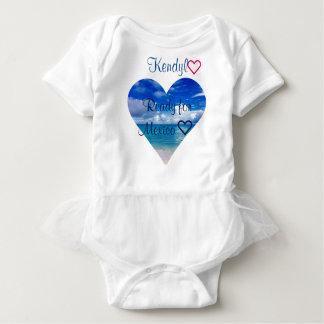 Body Para Bebê Coração do oceano | do terno | do corpo do tutu |