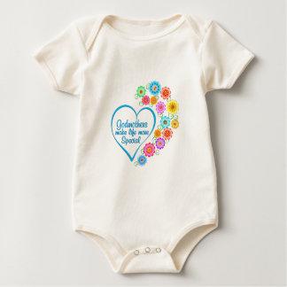 Body Para Bebê Coração do Special da madrinha
