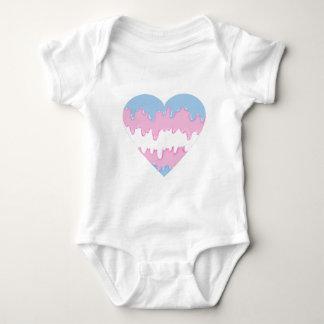 Body Para Bebê coração do transgender