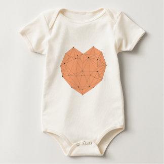 Body Para Bebê Coração geométrico