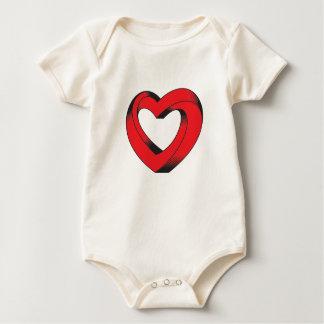 Body Para Bebê coração impossìvel torcido