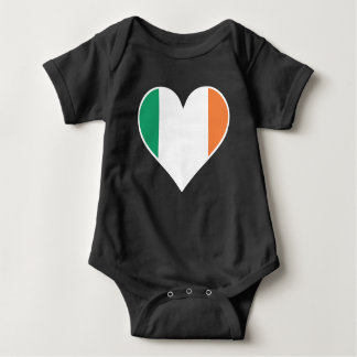 Body Para Bebê Coração irlandês da bandeira