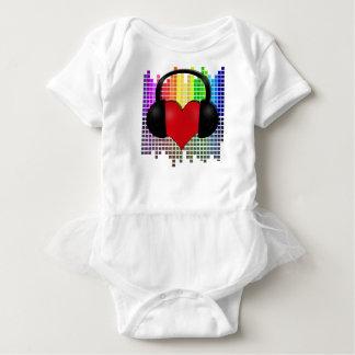 Body Para Bebê Coração mordido - transparente