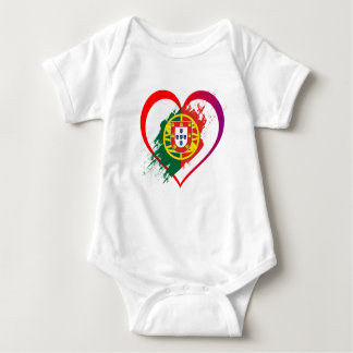 Body Para Bebê Coração português